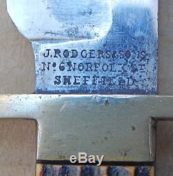 ORIGINAL Large US CIVIL WAR Era Joseph RODGERS & Son SHEFIELD BOWIE KNIFE #2