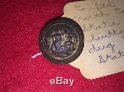 Orig Civil War Confederate North Carolina State Seal Button A Myers Richmond VA