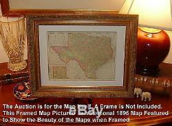 Original 1855 Pre-Civil War Antique Map SOUTHERN STATES Alabama Georgia Florida