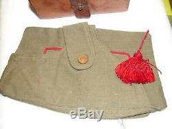Original 1930s Spanish Civil War Medics Leather Bandage Box & Tasseled Field Cap