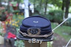 Original Antique CIVIL WAR Kepi cap military regiment GAR soldier 327 rope USA