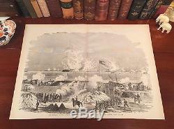 Original Antique Civil War CHARLESTON South Carolina SC Engraved Panoramic Map