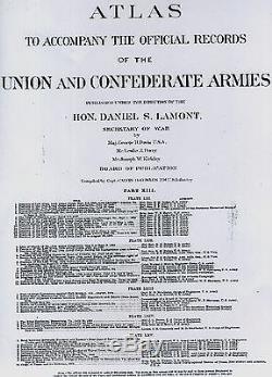 Original Antique Civil War Map FREDERICKSBURG Virginia WINCHESTER Robert E Lee