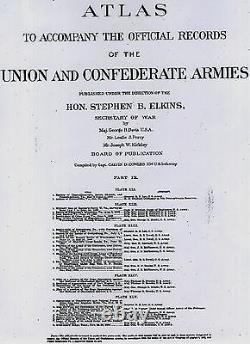 Original Antique Civil War Map HARPERS FERRY West Virginia HAGERSTOWN Maryland