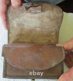 Original CIVIL WAR Period Brown Leather FUSE POUCH British or Confederate