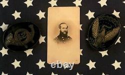 Original CIVIL War Embroidered 42nd Ohio Hardee Hat Insignia Gen. Garfield