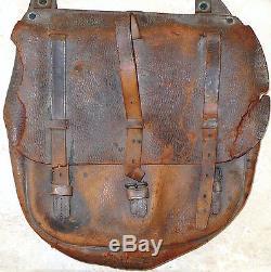 Original CIVIL War Leather Pouch Saddle Bag Marked Us Named Geo Zeller New York