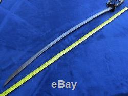 Original CIVIL War M1840 Us Calvary Sword And Scabbard Rare Maker R&c Solingen