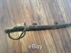 Original CIVIL War M1840 Us Calvary Sword & Scabbard