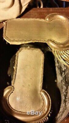 Original CIVIL War Officers Gold Shoulder Boards With Tin Box
