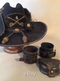 Original Civil War Carbine Sockets and Cap Pouch