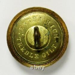 Original Civil War Confederate Staff Officer Button (CS5/CS205A5)