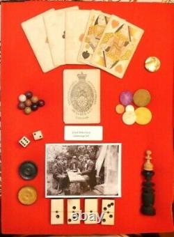 Original Civil War Era Gaming Collection in Display
