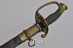 Original Civil War Foot Officer's Sword W. Clauberg, Solingen Iron Proof