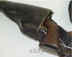 Original Civil War Leather Pommel Holsters for a US Colt 44 Pistol Very Nice
