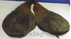 Original Civil War Leather US Stamped Cavalry Saddle Bags