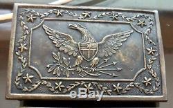 Original Civil War Militia Eagle Belt Buckle