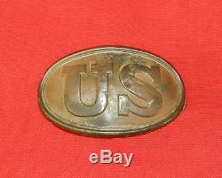 Original Civil War U. S. Belt Buckle with Arrow Head Hooks