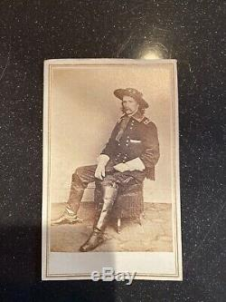 Original Period Military Civil War CDV Of General George Custer
