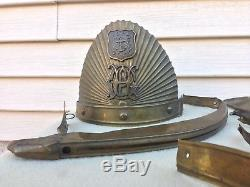 Original Pre Civil War Rhode Island Providence Horse Guard Partial Helmet