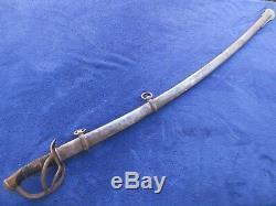 Original Us CIVIL War M 1840 Export Sword And Scabbard Made By R&c Solingen