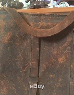 Original Vintage CIVIL WAR/ WWI US Calvary Mail Leather Saddle Hand Bag