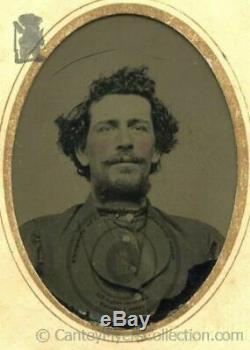 POSSIBLE William Bloody Bill Thompson civil war confederate Quantrill photo CDV