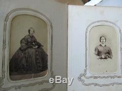 Perfect Antique ANTEBELLUM / CIVIL WAR Carte de Visite Album &Photos, Canton Ill