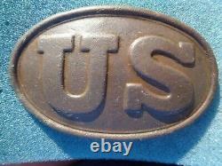Perfect Dug Civil War Maker Marked US Belt Buckle Plate W H Smith Brooklyn