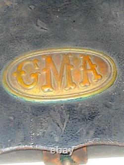 Pre Civil War 1800s GMA GEORGIA MILITARY ACADEMY LEATHER CARTRIDGE BOX with TIN I