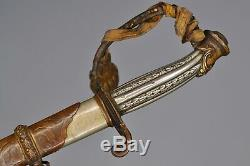 Presentation Grade US Civil War Cavalry Officer's Sword with Knot German Silver