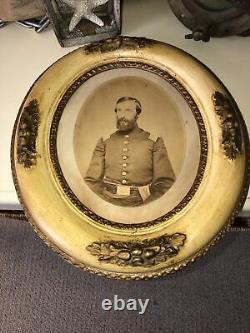 RARE AUTHENTIC CIVIL WAR UNION OFFICER SOLDIER ALBUMEN FRAMED 19th CENTURY IMAGE