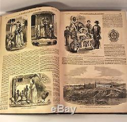 RARE Bound Civil War Period Newspapers 1844-1869 Frank Leslies Illust et al FINE