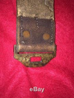 RARE M1851 CIVIL WAR ERA CAVALRY BUFF LEATHER BELT WITH EAGLE BUCKLE With WREATH