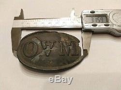 RARE Original Civil War OVM BUCKLE! Ohio Militia Plate, Puppy Paw! Dug TN, US
