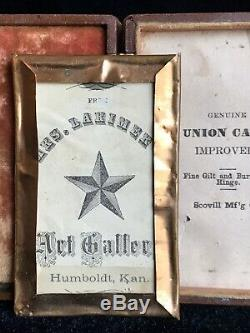 Rare 1/8 Plate Tintype Kansas CIVIL War Drummer Boy In Rare CDV Union Case