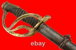 Rare American Civil War era US Cavalry Officer's Sword with USC Etched Blade