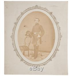 Rare Antique Photo Civil War Photograph Michigan Cavalry Officer Sword Killed US