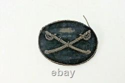 Rare Authentic CIVIL WAR CROSSED SABERS CAVALRY OFFICERS HAT INSIGNIA