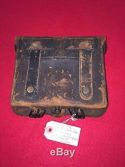 Rare CIVIL War Union U. S. M-1858 Gd Cook 2000 Contract Cartridge Box