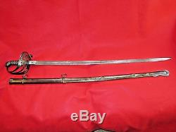 Rare CIVIL War Us Foot Officer Nonregulation Sword-fitch Waldo-engraved