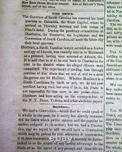 Rare CONFEDERATE Wilmington NC North Carolina CIVIL WAR Start 1861 Old Newspaper