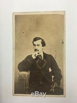Rare John Wilkes Booth CDV Lincoln Assassination Ford's Theater Civil War
