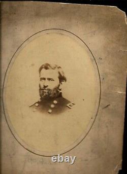 Rare Large Albumen Civil War General Ulysses S Grant
