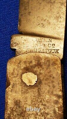 Rare Union Knife Co. Civil War Pocketknife Stamped Army Knife Union Naugatuck