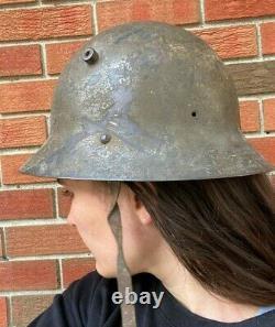 Rare WW2 Military Czech M30 Helmet Original Spanish Civil War