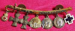 Russian Civil War dress miniature sword for gallantry St George order medal set