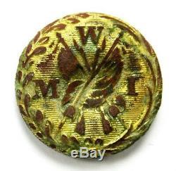 Scarce Civil War Western Military Institute Vest/Coat Button Scovill's RMDC