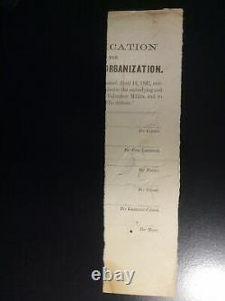 Signature Civil War General DANIEL SICKLES Gettysburg Peach OrchardWar Dated