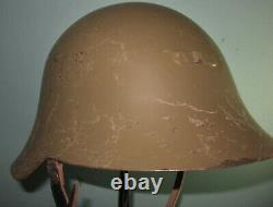 Spanish M34 Eibar helmet civil war Spain casque stahlhelm casco elmo WW2